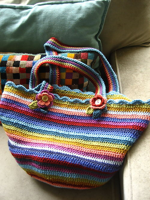 Crochet Patterns For Tote Bags : Attic24: Crochet Bag Pattern