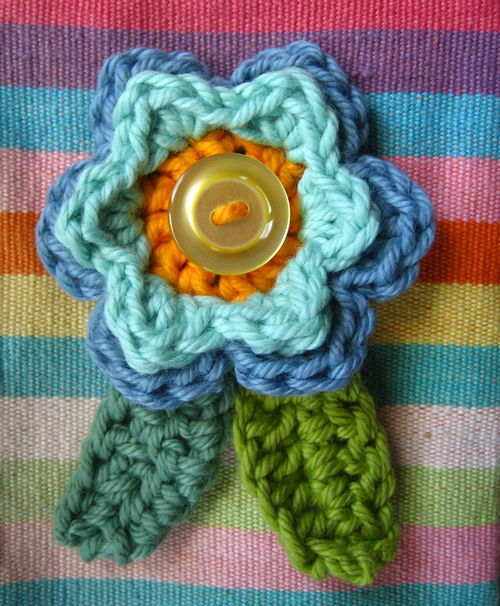 Alfa img - Showing > Crochet Flowers and Leaves