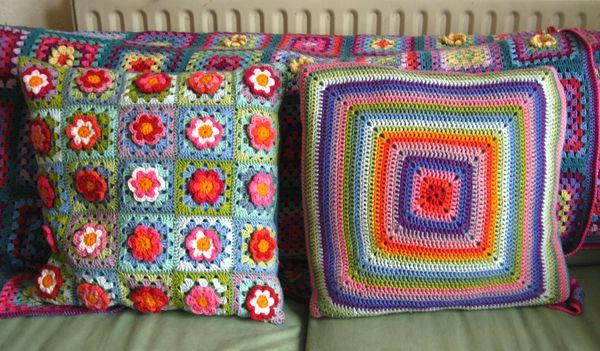 Attic24 granny 39 s flower patch - Coperta uncinetto piastrelle ...