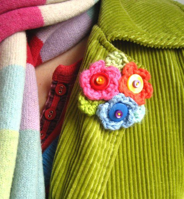 Attic24 Crochet Flower Brooch