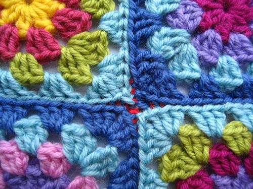 Crochet Patterns Joining Squares : Attic24: Joining Granny Squares