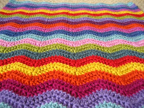Neat Ripple Afghan Pattern from Attic24.com