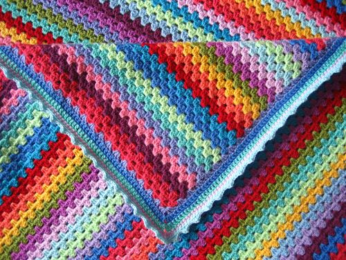 granny stripe stylecraft dk 18 x 100g Attic 24 Sunny blanket yarn crochet kit