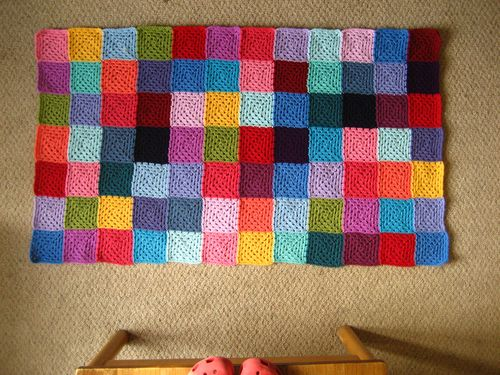Knitted Granny Square Patterns : Attic24: Granny Patchwork Blanket