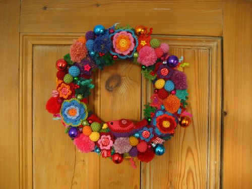 Free Colorful Christmas Wreath