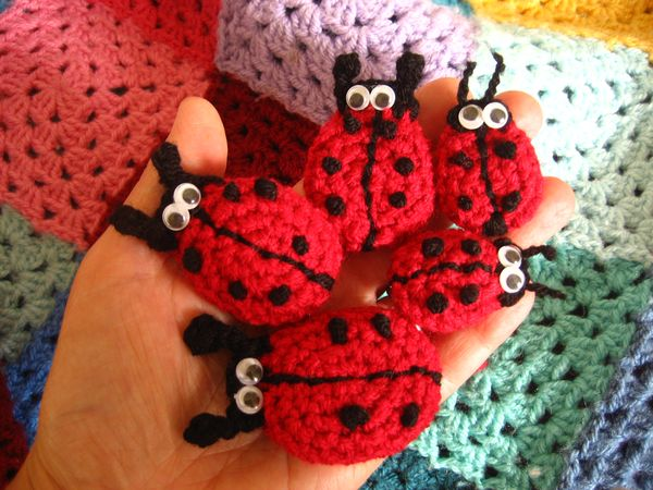 Attic24 Crochet Ladybirds
