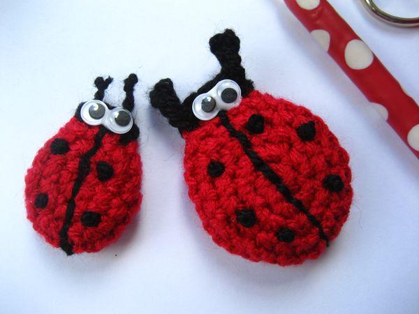 Amigurumi ladybug keyring/Lucky charm keychain/Bag | Etsy | 450x600