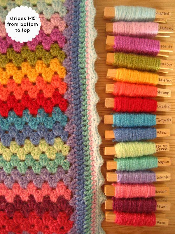 Attic24 My Granny Stripe Blanket