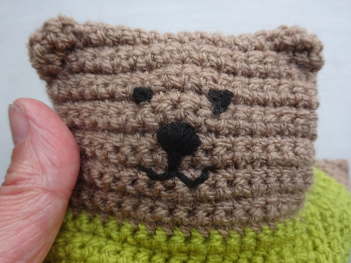 My Hobby Is Crochet: Polar Bear & Brown Bear Appliques - Free ... | 375x500