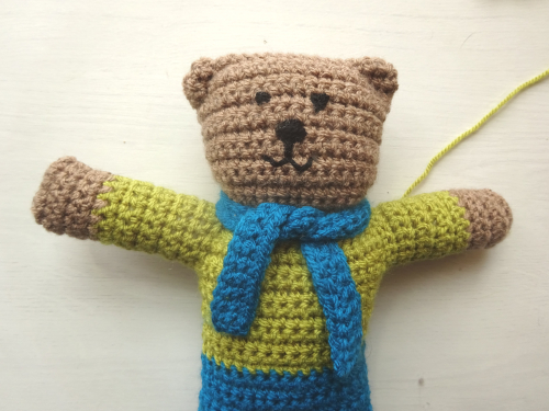 Sock Yarn Pinafores and Cardigans plus Little Bear Scarf ... | 375x500