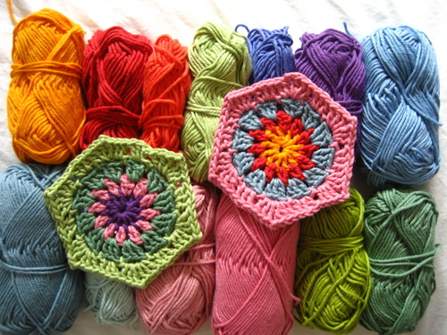 Free Crochet Pattern 60148 Crochet Motif VII: Hexagon Wheel Motif